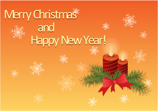 Merry Christmas And New Year Greetings Images